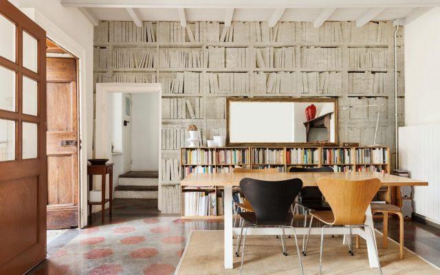 parete libri fibra di vetro