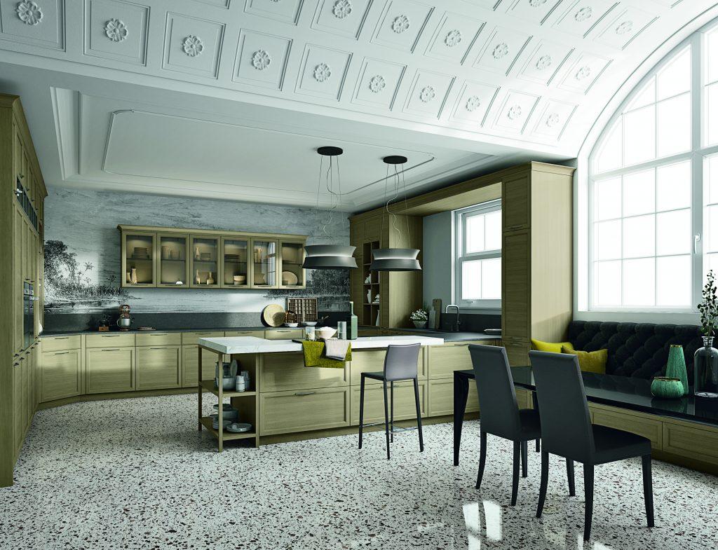 cucina con penisola design