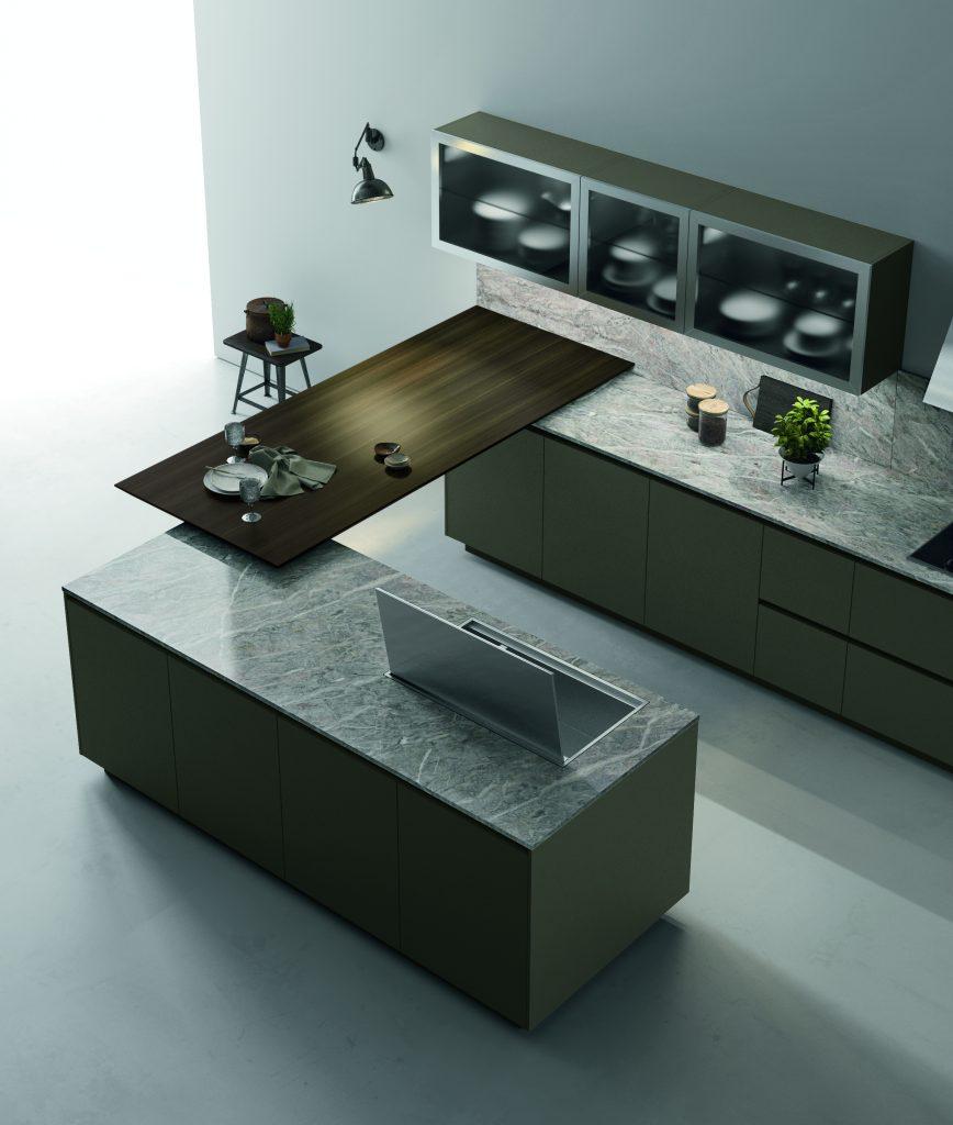penisola cucina design legno